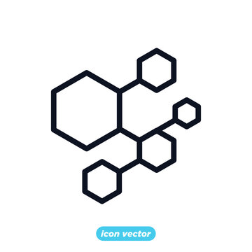 Molecule icon template color editable. Molecule symbol vector illustration for graphic and web design.