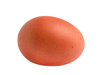 A chicken egg isolated on white background