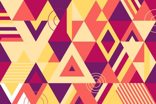 Geometric mural background. Modern style vector illustration.