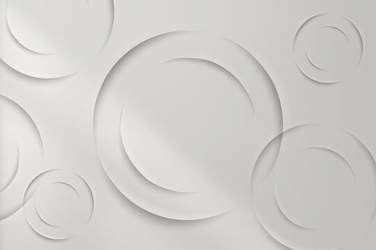 White circles with drop shadow pattern background vector