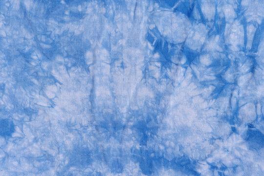 Blue tie dye background