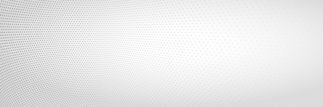 3D abstract monochrome background with dots pattern vector design, technology theme, dimensional dotted flow in perspective, big data, nanotechnology.