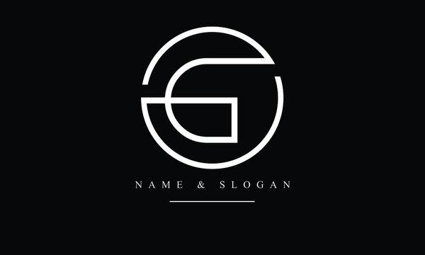 OG, GO, O, G abstract letters logo monogram