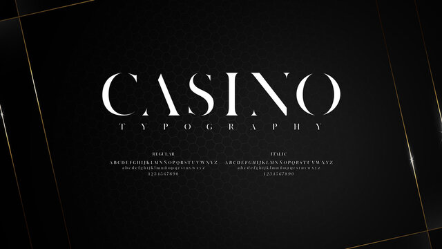 Elegant typography with shiny effect