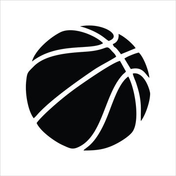 Basketball icon isolated on white background from hobbies and sports collections. Trendy basketball icons and modern basketball symbols for logos, web, apps, UI. Simple basketball icon sign.