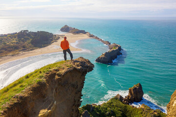 Hike in New Zealand coast
