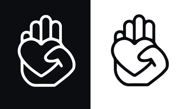 Charity and Donation Line Icon vector design