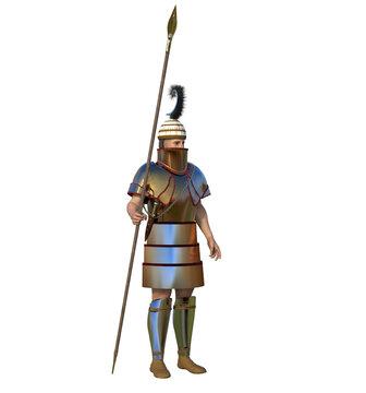 Mycenaean warrior (isolated)