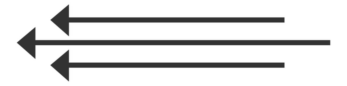 long gray arrows, arrow icons