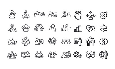 Fototapeta Working Office Culture icons vector design obraz