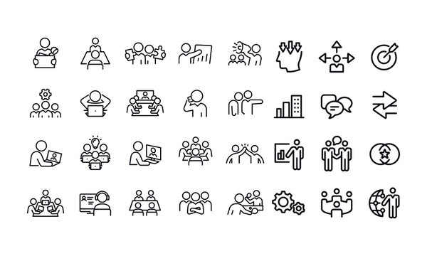 Working Office Culture icons vector design