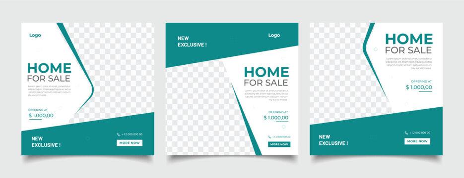 Real estate instagram social media post web banner