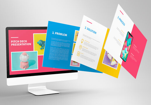 Colorful Business Pitch Deck Layout