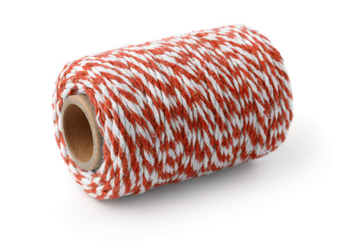 Red striped cotton bakers twine spool