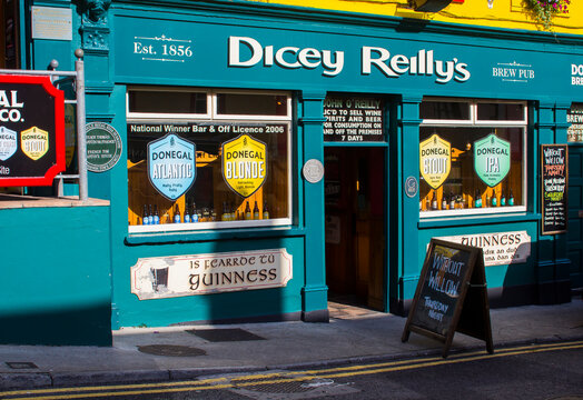 Dicey Reilly's Irish Pub located in Bundoran Town in  the north west county Donegal in the Republic of Ireland