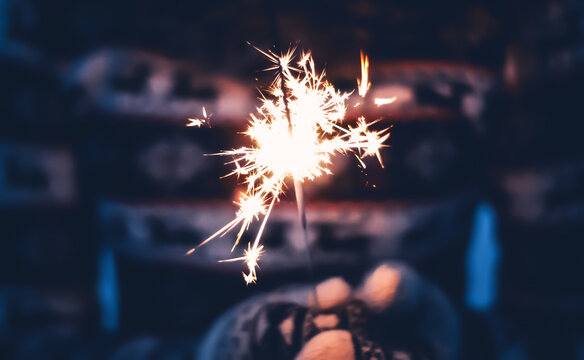 sparkler in the hand
