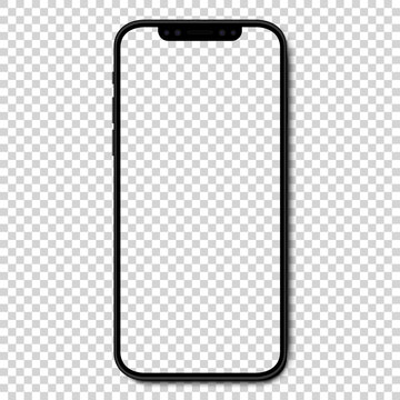 VINNITSA, UKRAINE - JANUARY 25, 2021: Mockup Iphone 10, 10s, 11, 11pro, and new iphone 12, 12pro, 12 mini. Mock up screen iphone. Vector illustration