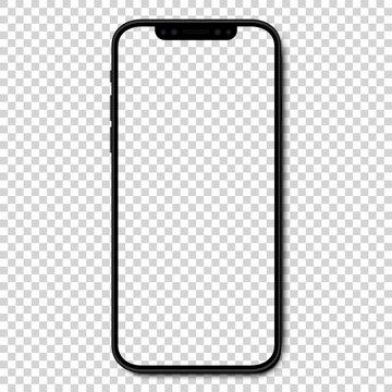 VINNITSA, UKRAINE - JANUARY 25, 2021: Mockup Iphone 10, 10s, 11, 11pro, and new iphone 12, 12pro, 12 mini. Mock up screen iphone. Vector illustration