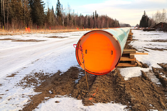 The end of a pipeline that is still above ground