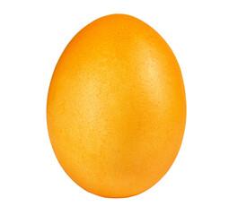 Yellow egg isolated on white background