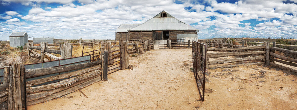 Cattle yards on an outback  station