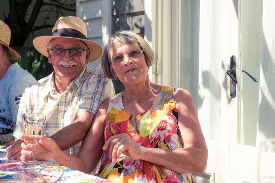 Senior couple enjoying life