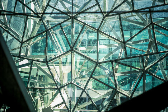 Glass structure of Federation Square, Melbourne