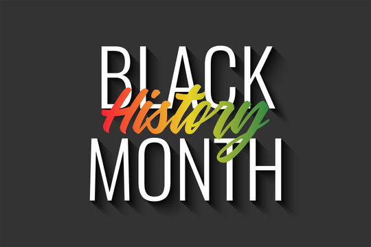 Black History Month Background Illustration Template Design