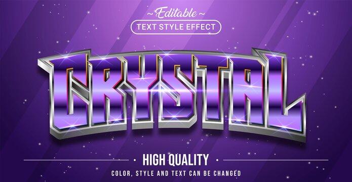 Editable text style effect - Crystal text style theme.