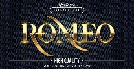 Obraz Editable text style effect - Romeo text style theme. - fototapety do salonu