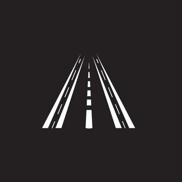 Black way logo vector template