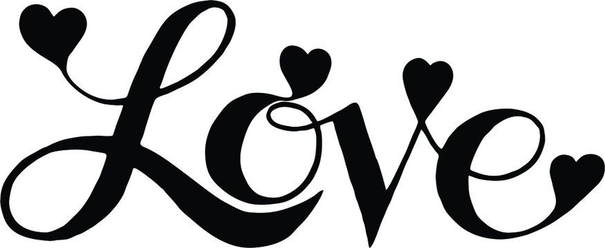 Valentine's Day Design with love stylized