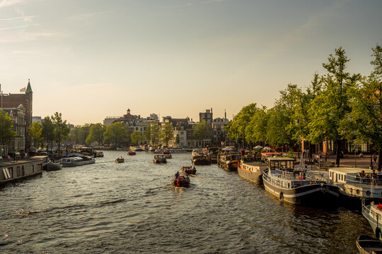 canal in early evening - Amsterdam, Netherlands