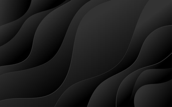 Abstract wave curve banner with dark background vector illustration.