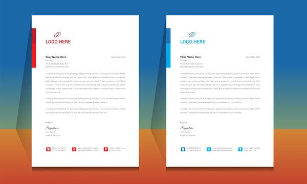 Letterhead format template, business style letterhead design template. Company letterhead template designs. Letterhead, Template.