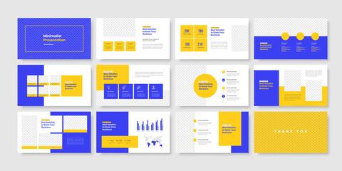 Obraz Business minimal slides presentation template - fototapety do salonu