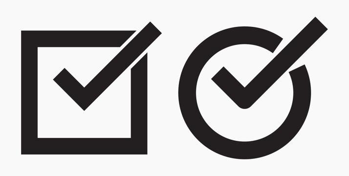 Icon ok. Okay icon. Confirmation of action. Checkbox. Choice. Vector icon.