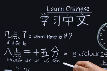 Learning chinese alphabet