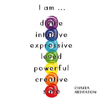 Seven Chakra Meditation Vector Illustrator