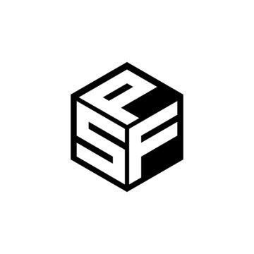 SFP letter logo design with white background in illustrator, cube logo, vector logo, modern alphabet font overlap style. calligraphy designs for logo, Poster, Invitation, etc.