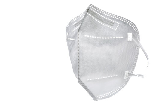 FFP 2 Maske freigestellt mit Textfreiraum, Gesundheit Vorsorge und Selbstschutz.