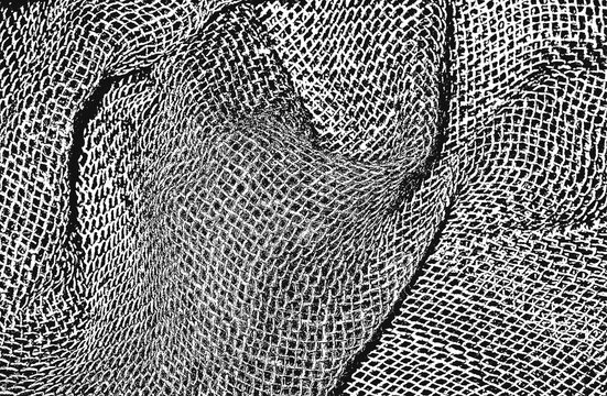 Distressed overlay texture of weaving fabric. grunge background.