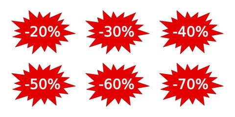 Obraz ikony rabatu sprzedaży - fototapety do salonu
