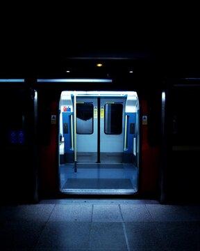 Open Doors Of Subway Train