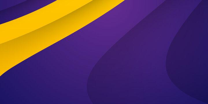 Abstract purple yellow orange vector background with wave stripes. Vector abstract purple background. Polygon wave in purple vector gradient background