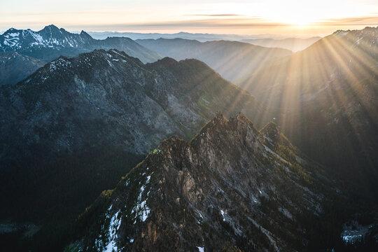 North Cascades Washington Mountains at Sunrise