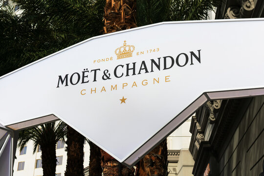 Moet and Chandon champagne outdoor advertising banner - Las Vegas, Nevada, USA - 2019