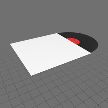 Vinyl record with cover 3