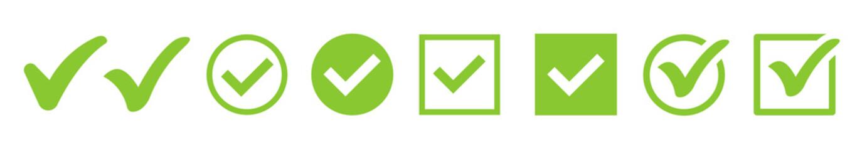 Fototapeta Green check mark icon. Check mark vector icon. Checkmark Illustration. Vector symbols set ,green checkmark isolated on white background. Correct vote choise isolated symbol.