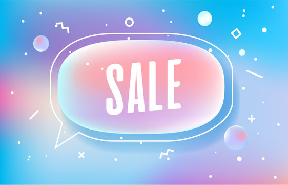 SALE in design banner. vector template for web, print, presentation . Simple banner with minimal phrase. Trendy flat geometric print. Creative vector stock decoration.